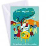 """Erstkommunionkarte """"Jesus segnet uns"""""""