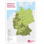 "Wandkarte ""Katholische Diaspora in Deutschland"""