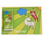 """Osterlamm""-Schokogrußkarte"