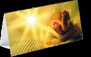"""Weihnachtskarte """"Kleine Füße, großer Segen"""""""