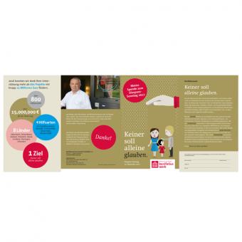 Info-Flyer zur Diaspora-Aktion 2017 mit Opfertüte