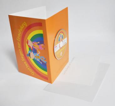 """Karte """"Gottes Segen zur Einschulung"""" mit Mini-CD"""