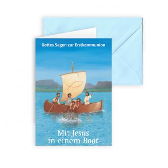 Erstkommunionkarte 'Mit Jesus in einem Boot' AUSVERKAUFT!