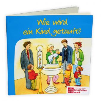 """Mini-Bilderbuch """"Wie wird ein Kind getauft"""""""