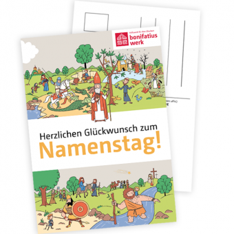 Namenstagspostkarten-Set