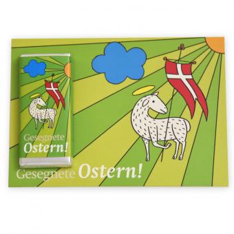 """""""Osterlamm""""-Schokogrußkarte 6er"""