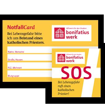 SOS-Auto-Aufkleber und MIVA-NotfallCard - im neuen Design