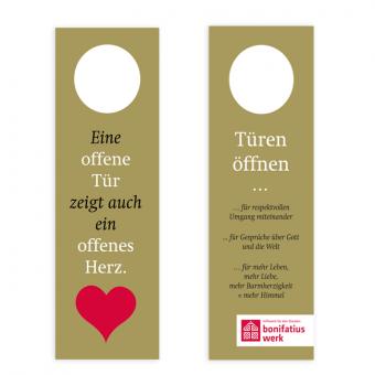 Türanhänger (50er Paket): Eine offene Tür zeigt auch ein offenes Herz