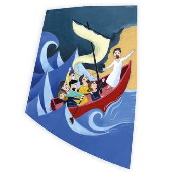 """Wachsauflage Motiv """"Mit Jesus in einem Boot"""""""
