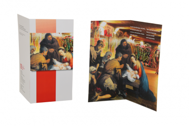 """Weihnachtskarte """"Krippe in der Unterführung"""""""