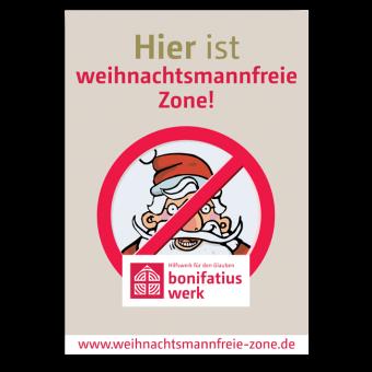 """Plakat """"Weihnachtsmannfreie Zone"""""""