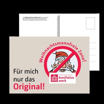 """Postkarte """"weihnachtsmannfreie Zone"""" 10 Karten"""
