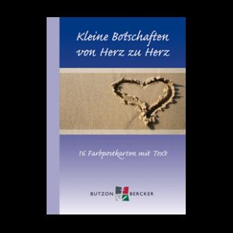 Postkartenbuch: Kleine Botschaften von Herz zu Herz