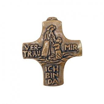 """Bronzekreuz """"Vertrau mir, ich bin da!"""""""