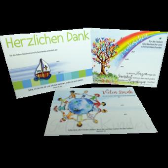 Dankpostkarten, Set à 10 Stück
