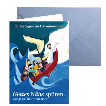 "Erstkommunionkarte: ""Gottes Nähe spüren"""