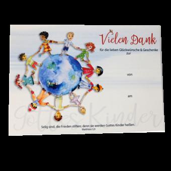 "Dankpostkarten, Set à 10 Stück – Motiv ""Kinder Gottes"""