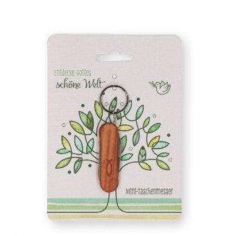 """Mini-Taschenmesser """"Entdecke Gottes schöne Welt"""""""