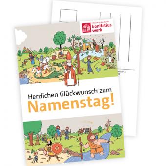 Namenstagspostkarten-Set