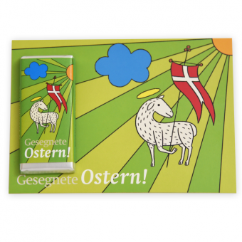 "Fairtrade ""Osterlamm""-Schokogrußkarte"