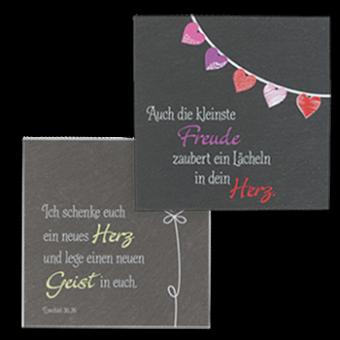 """Schiefertafeln: SchieferMoment """"Freunde"""" und """"Herz"""""""