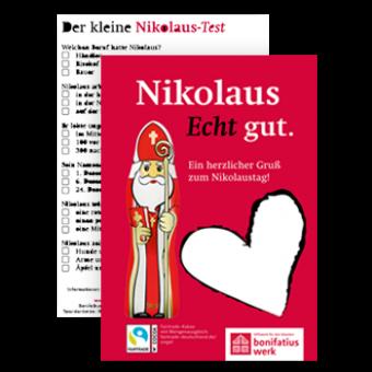 Schoko-Nikolaus-Karte, 25er Pack