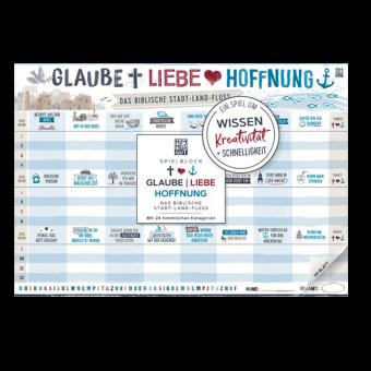 """Spielblock: """"Glaube-Liebe-Hoffnung: Das biblische Stadt-Land-Fluß"""""""