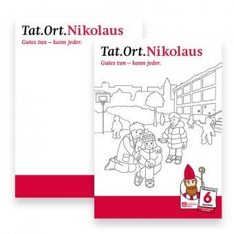 "Malbogen ""Tat.Ort.Nikolaus"" 30er-Set"
