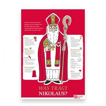 """Erklärposter """"Was trägt der Nikolaus?"""""""