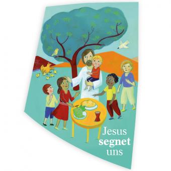 """Wachsauflage Motiv """"Jesus segnet uns"""""""
