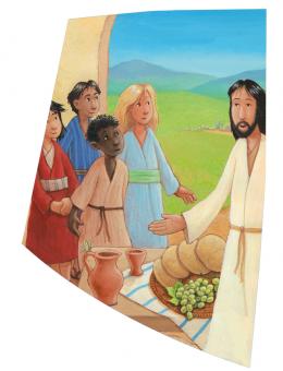 """Wachsauflage Motiv """"Jesus, wo wohnst Du"""""""