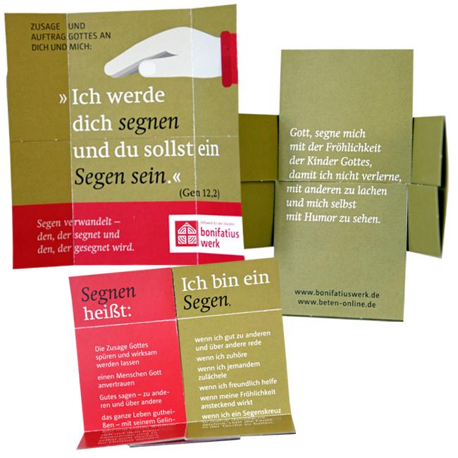 Segens-Faltkarte (25er Paket): Ich werde dich segnen und du sollst ein Segen sein