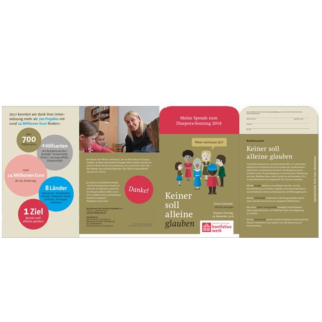 Info-Flyer zur Diaspora-Aktion 2018 mit Opfertüte (50er Set)