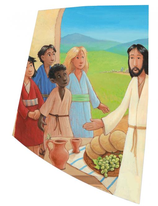 """Wachsauflage Motiv """"Jesus wo wohnst Du"""""""