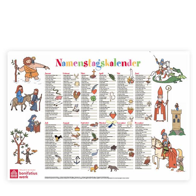 Namenstage Kalender