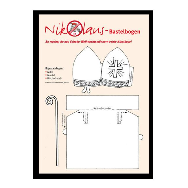nikolaus bastelbogen. Black Bedroom Furniture Sets. Home Design Ideas